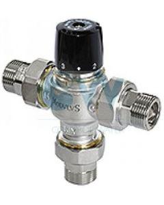"""Трипътен смесителен вентил 1/2"""" с холендри 30÷65°С BRV 799"""
