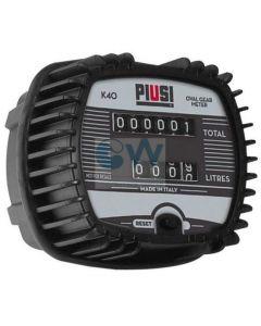 """Механичен брояч за горива, 1-30 l/min, 1/2"""" Piusi K40"""